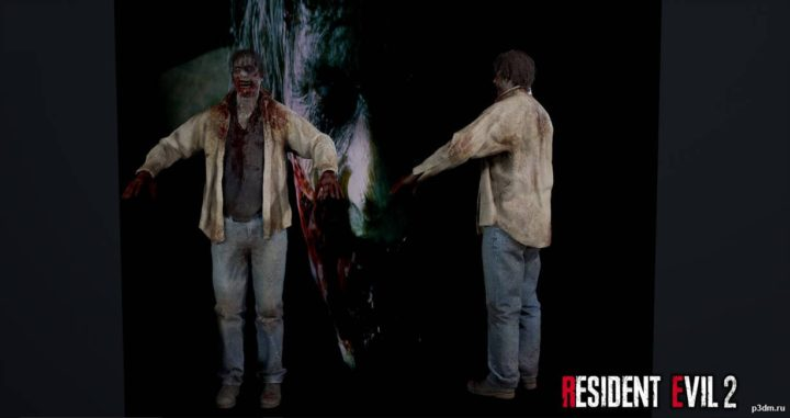 Zombie Male 1 (from the trailer) 3D Model