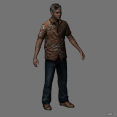 Harry Mason Hawaiian Shirt 3D Model