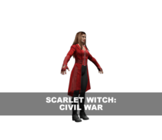 Scarlet Witch: Civil War 3D Model