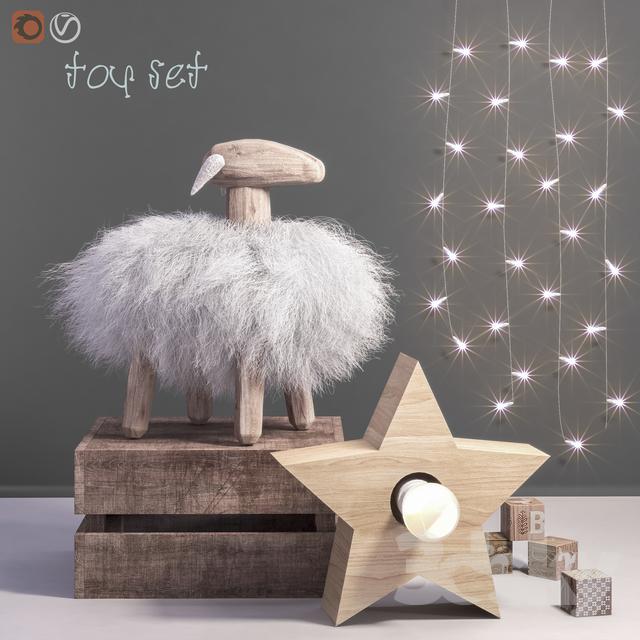 Toys and dekor set 44                                      3D Model