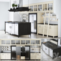 Kitchen Marci Cucine Opera New Classic                                      3D Model