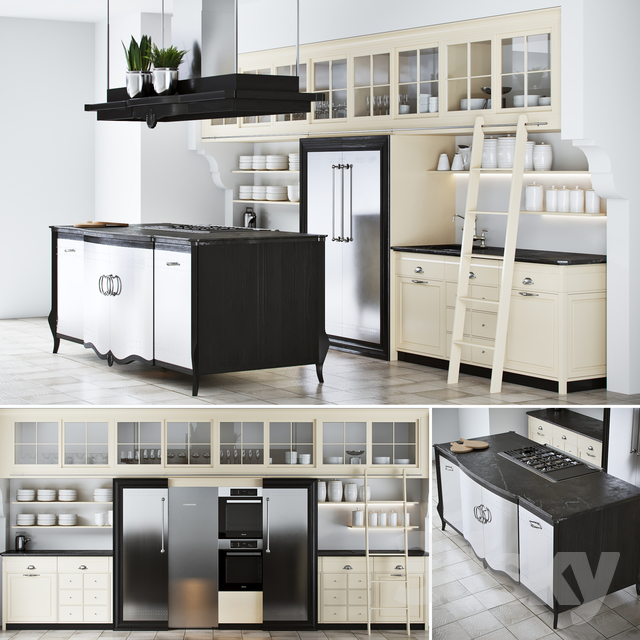 Kitchen Marci Cucine Opera New Classic                                      3D Model