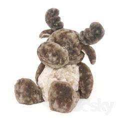 Children's toy plush elk.                                      3D Model