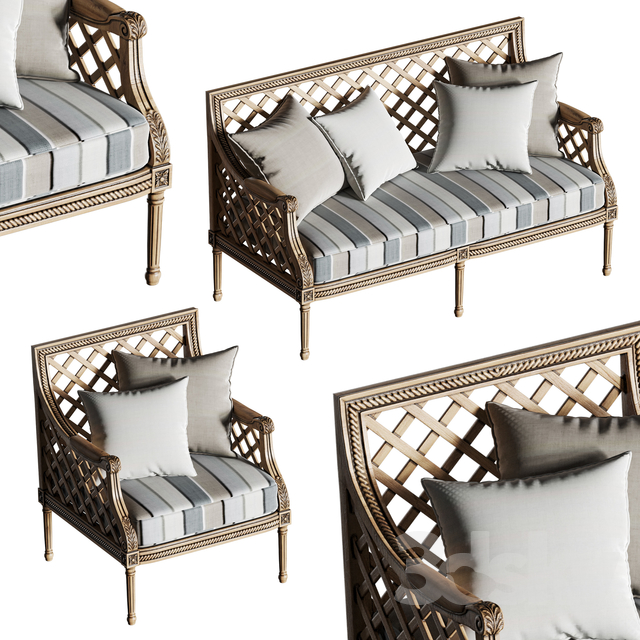 Massant outdoor furniture set                                      3D Model
