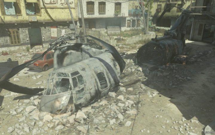 CH-46E Crashed 3D Model
