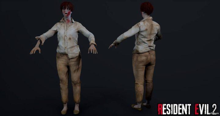 Female Zombie 2 3D Model