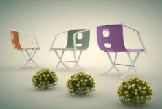 Garden Chairs 3D Model