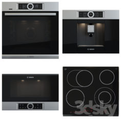Bosch set – PKN675DK1D, CTL636ES1, BFL634GS1, HSG636XS6                                      3D Model