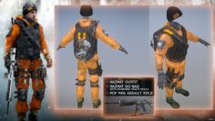 Division Hazmat Suit Preorder+Survival dlc 3D Model