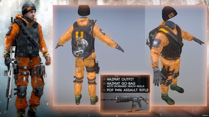 Division Hazmat Suit Preorder+Survival dlc 3D Model