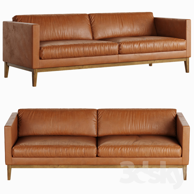 Swedese Madison Leather Sofa                                      3D Model