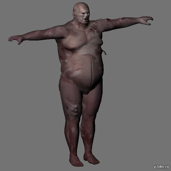 Zombi Fatguy (Unused Content) 3D Model