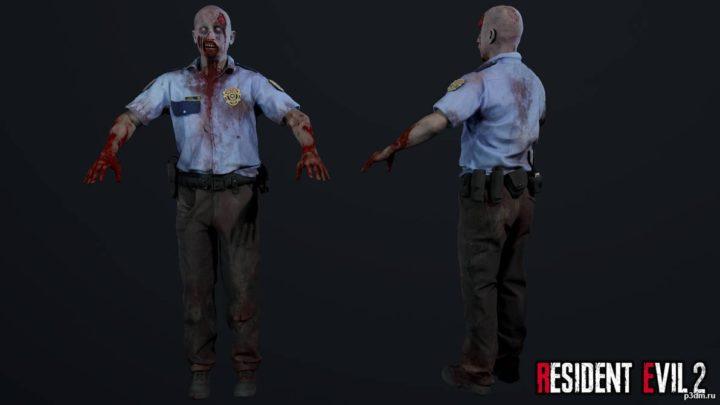Zombie Police Officer 1 3D Model