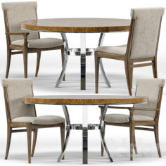 Westwood Chairs, Bernhardt Soho Round Dining Table                                      3D Model
