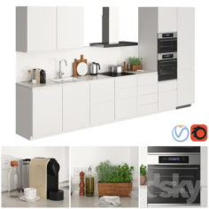 Ikea Metod Voxtorp Glossy White                                      3D Model