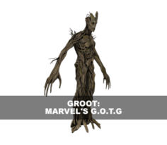 Groot: Marvel's Guardians Of The Galaxy 3D Model