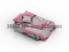 Bedclothes bedlinen-2 3D Collection