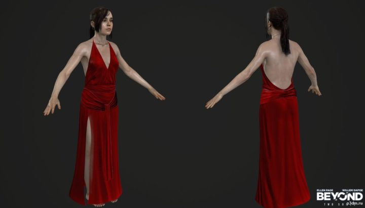 Jodie Elegant Dress The Dinner Episode 3D Model