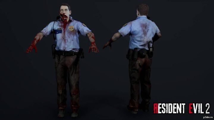 Zombie Police Officer 2 3D Model