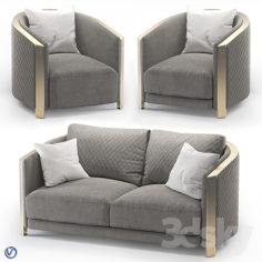 Aesthetics Magma sofa + chair                                      3D Model