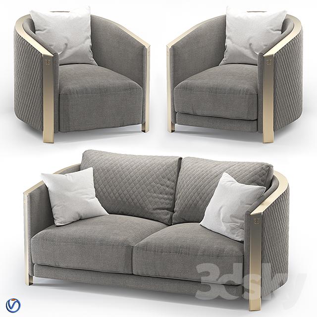 Aesthetics Magma sofa + chair                                      3D Model