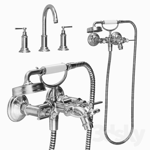 Classic bath mixer                                      3D Model