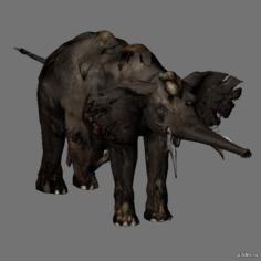 Zombie elephant 3D Model