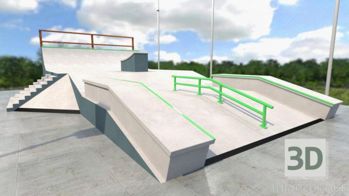 3D-Model  Skate park