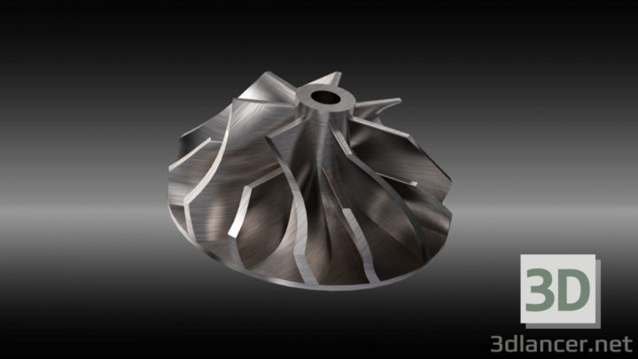 3D-Model  Turbo Engine