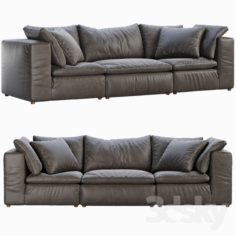 RH Cloud Modular Leather Sofa                                      3D Model