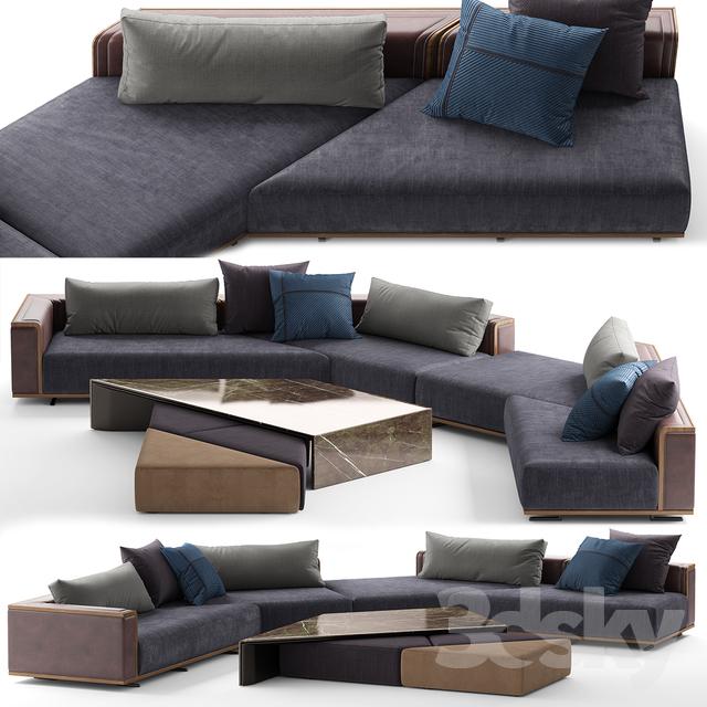 Visionnaire CONVENTION Sofa                                      3D Model
