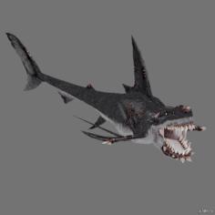 Zombi shark 3D Model