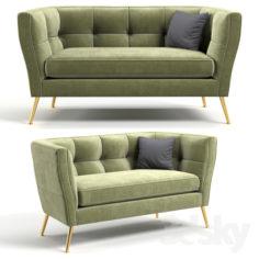 Sofa Rimini Green 2-Seater 160cm                                      3D Model