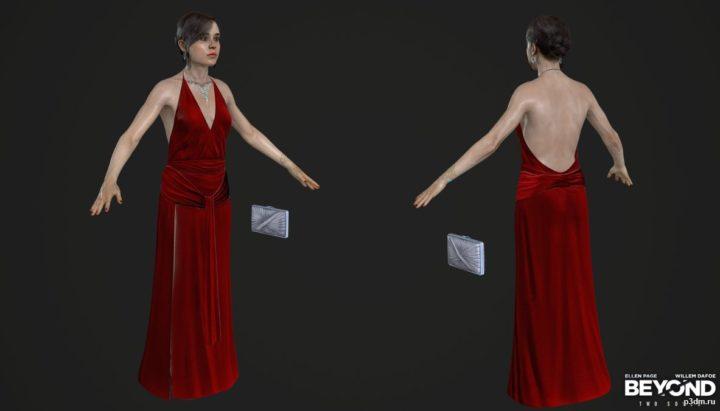 Jodie Dress The Embassy Episode 3D Model