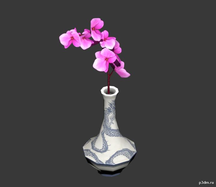 Orchid Vase 3D Model