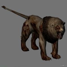 Zombi Lion 3D Model