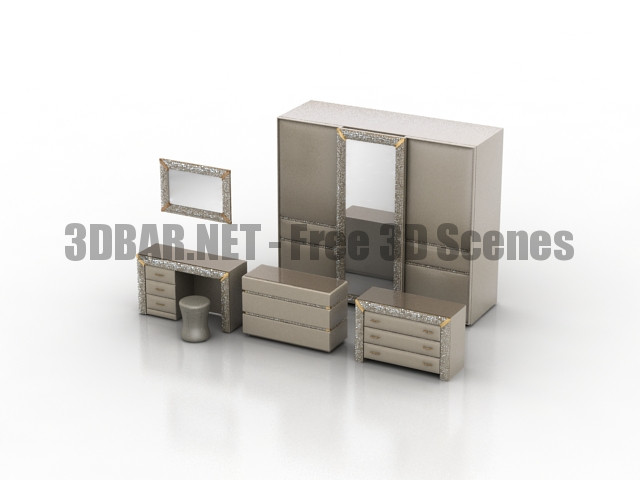 Chest Of Drawers Dressing Table Wardrobe Pozitano Dream Land 3D Collection