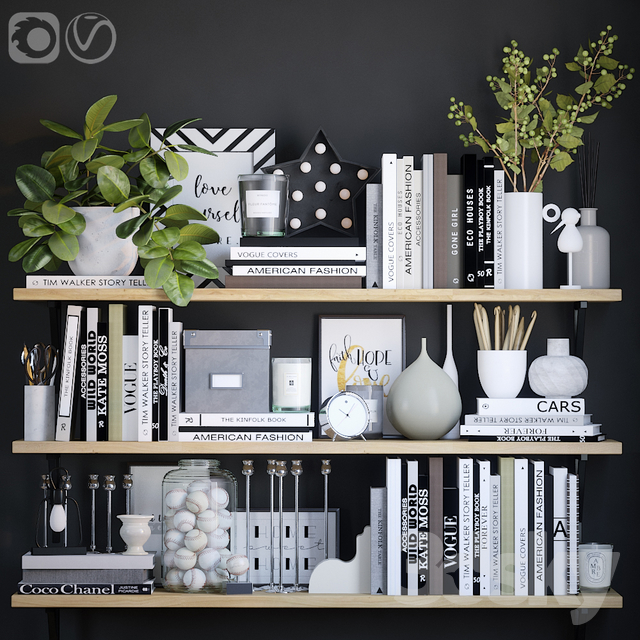 Black and white decor set 5                                      3D Model