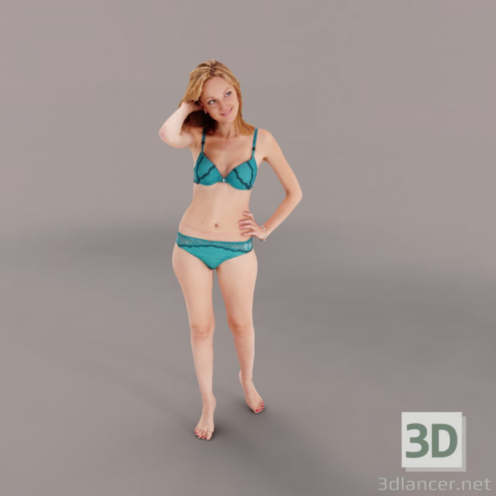 3D-Model  casual woman