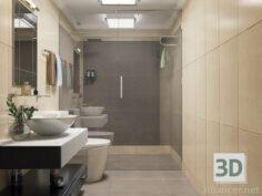 3D-Model  bathroom