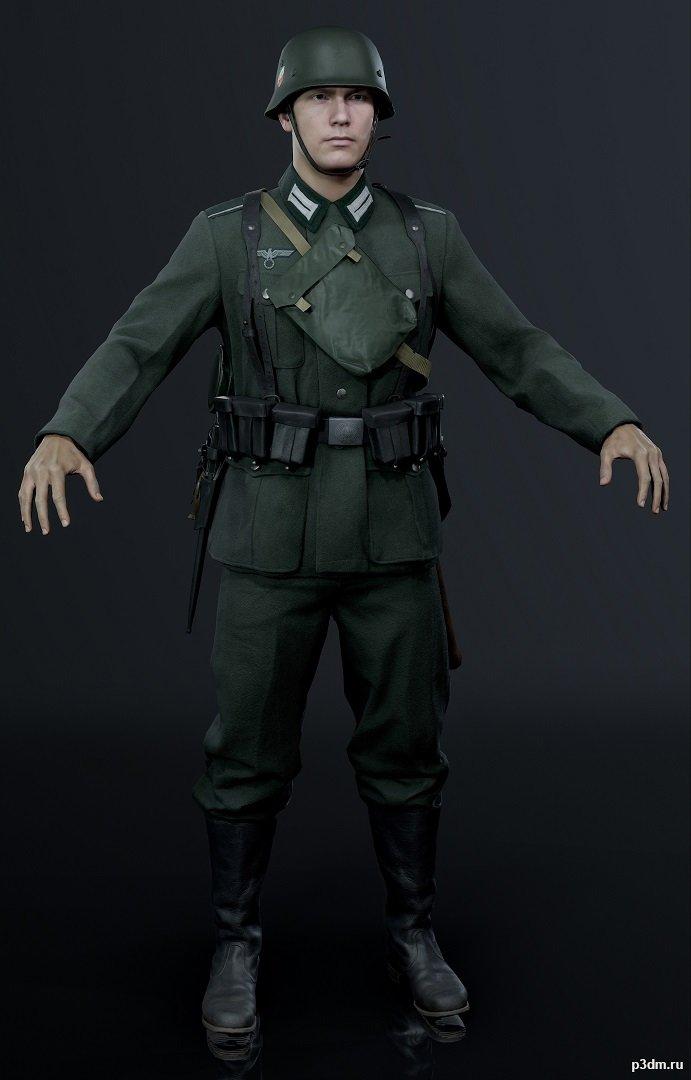 Battlefield V – German Character Test 3D Model