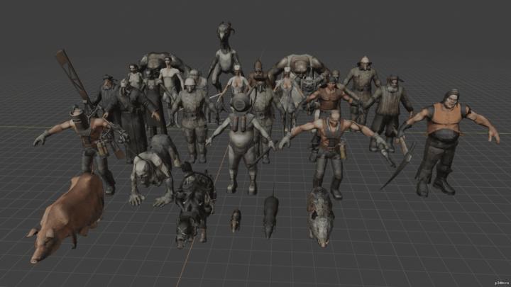 Characters YAE 3D Model