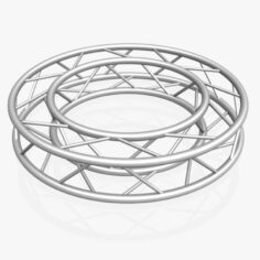 Circle Square Truss Full diameter 150cm 3D Model