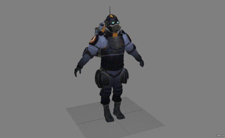 Combine captain 3D Model