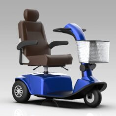 Generic Mobility Scooter 3 Wheel 3D Model