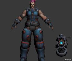 Heroes of the Storm Zarya 3D Model