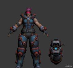 Heroes of the Storm Zarya04 3D Model