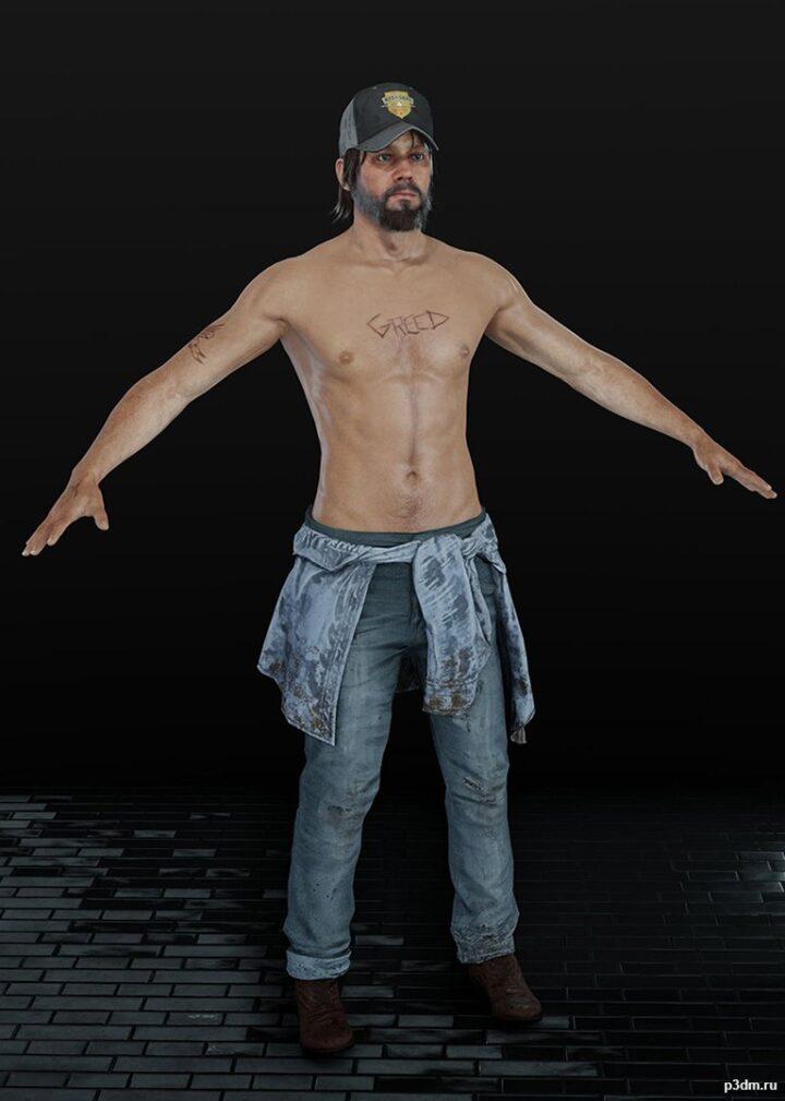 Nick Rye Topless 3D Model