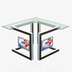 Virtual Tv Studio News Desk 3 3D Model