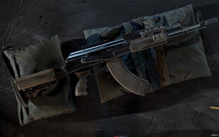 AK-47 Tactical 3D Model